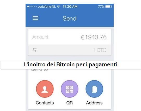 L'inoltro dei bitcoin